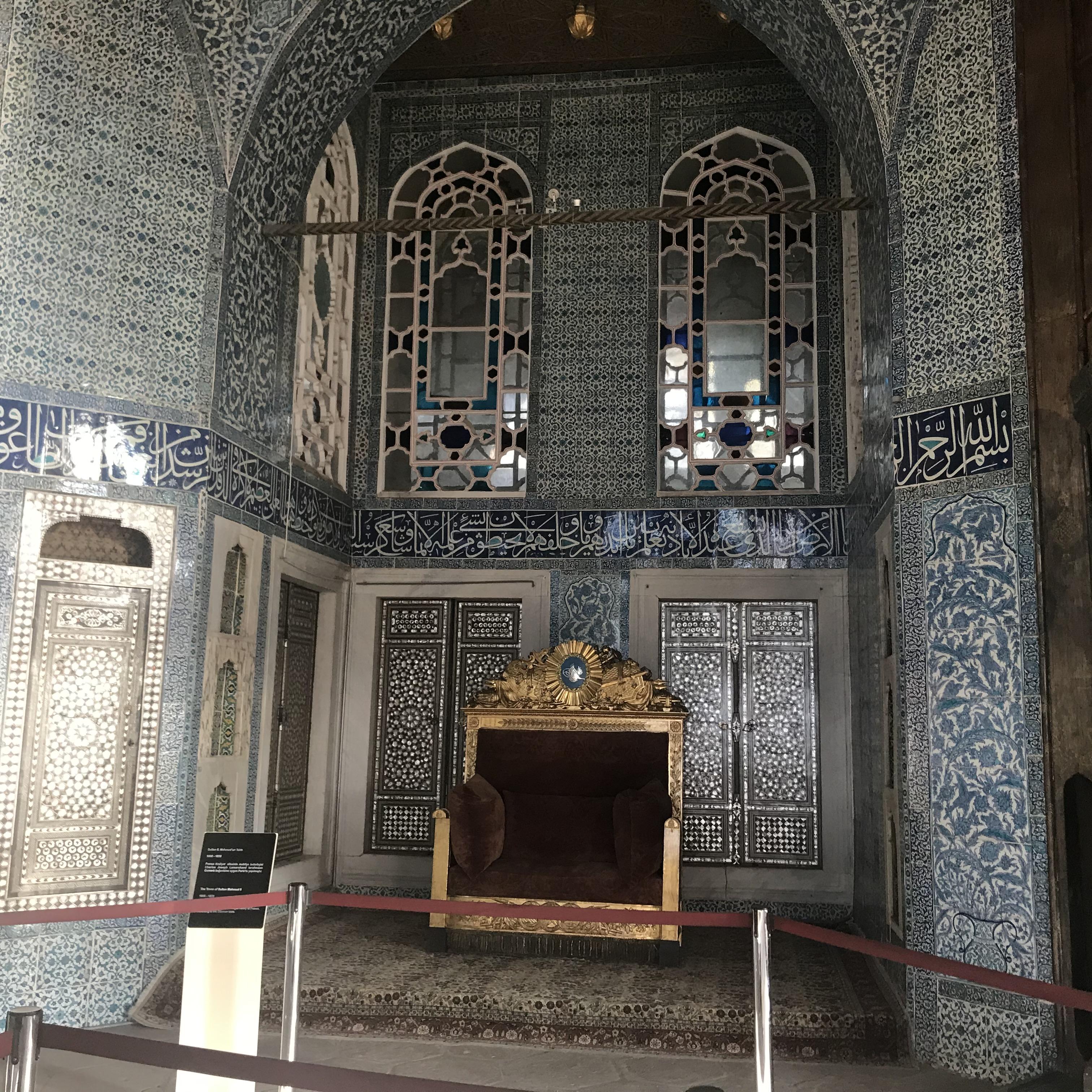 Bağdat Köşkü Sultan 2. Mahmud Tahtı - Topkapı Sarayı